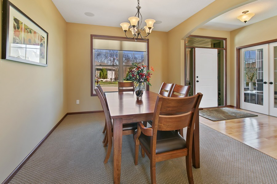 Real Estate Photography - 15385 55th Ct N, Plymouth, MN, 55446 - Spacious Dining Room just off Entry