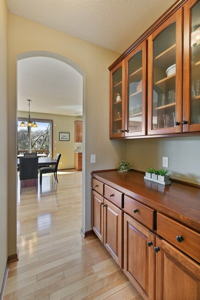Real Estate Photography - 15385 55th Ct N, Plymouth, MN, 55446 - Butler Pantry / Bar area