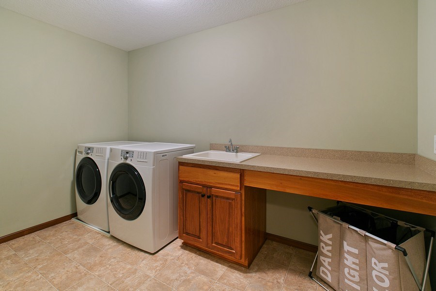 Real Estate Photography - 15385 55th Ct N, Plymouth, MN, 55446 - Upper Level Laundry room