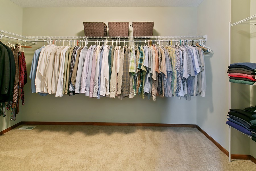 Real Estate Photography - 15385 55th Ct N, Plymouth, MN, 55446 - ...oversized walk-in Master closet w/ lots of hang