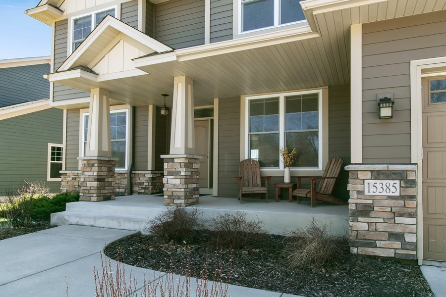 Real Estate Photography - 15385 55th Ct N, Plymouth, MN, 55446 - Charming Front Porch to greet neighbors
