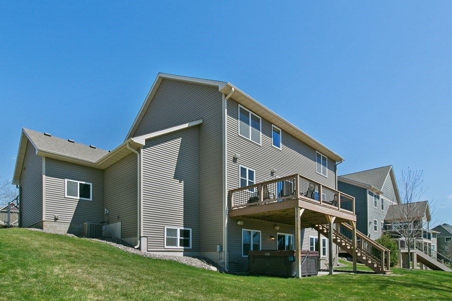 Real Estate Photography - 15385 55th Ct N, Plymouth, MN, 55446 - ...another view of back of house and yard