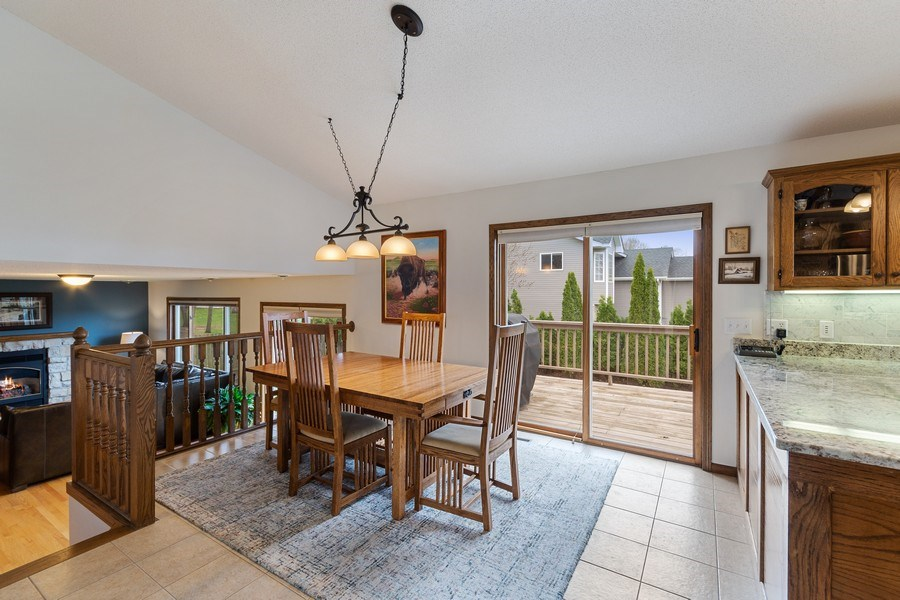 Real Estate Photography - 9480 NE Bataan St, Blaine, MN, 55449 - Dining Room