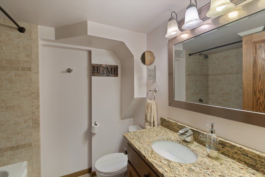 Real Estate Photography - 9480 NE Bataan St, Blaine, MN, 55449 - 2nd Bathroom