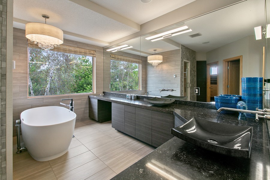 Real Estate Photography - 19555 Oak Grove Ave, Prior Lake, MN, 55372 - Master Bathroom