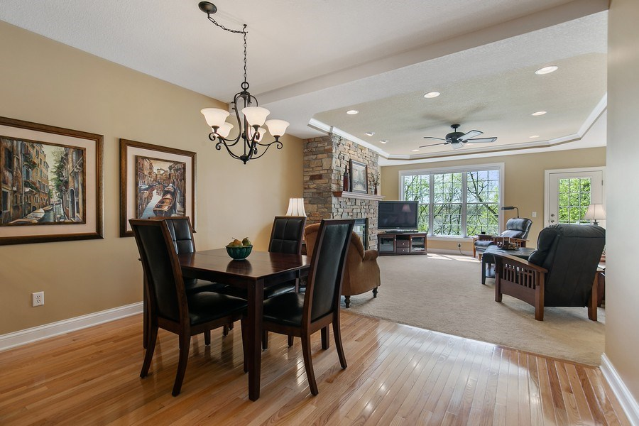 Real Estate Photography - 4850 Steeplechase Cir, Eagan, MN, 55122 - Living Room / Dining Room