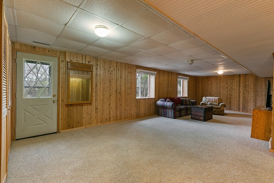 Real Estate Photography - 9217 Briar Ln, Bloomington, MN, 55437 - Wood burning fireplace! Up North feel!