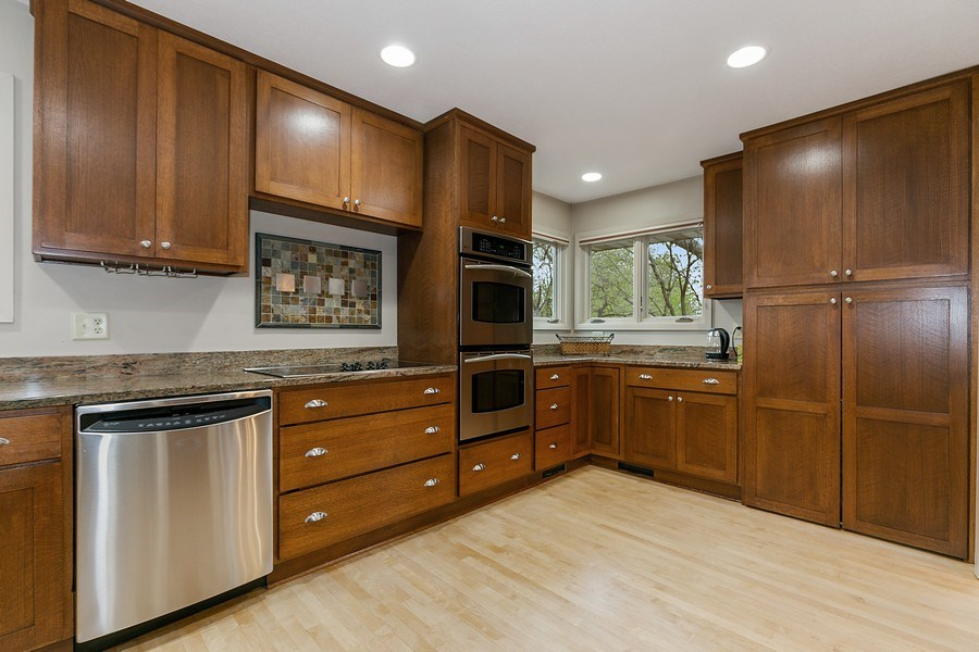 Real Estate Photography - 9217 Briar Ln, Bloomington, MN, 55437 - Stainless steel appliances & granite!