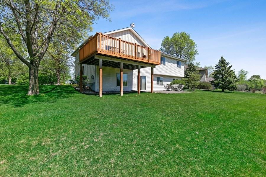 Real Estate Photography - 8761 Alamo Cir, Blaine, MN, 55449 - Rear View