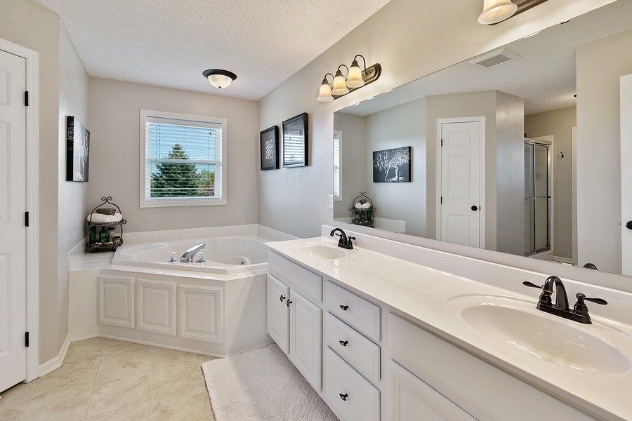 Real Estate Photography - 8589 176th St w, Lakeville, MN, 55044 - Master Bathroom