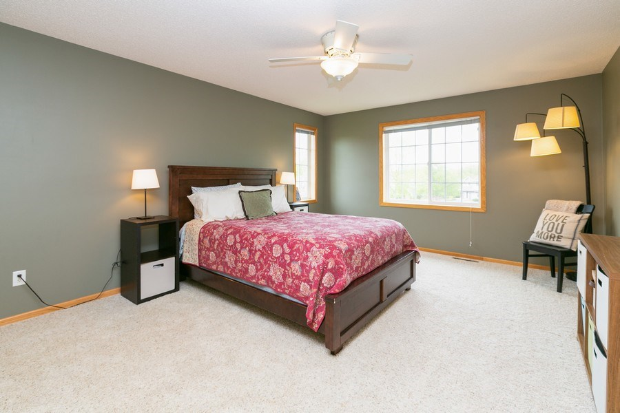 Real Estate Photography - 18832 Inca Ave, Lakeville, MN, 55044 - Master Bedroom