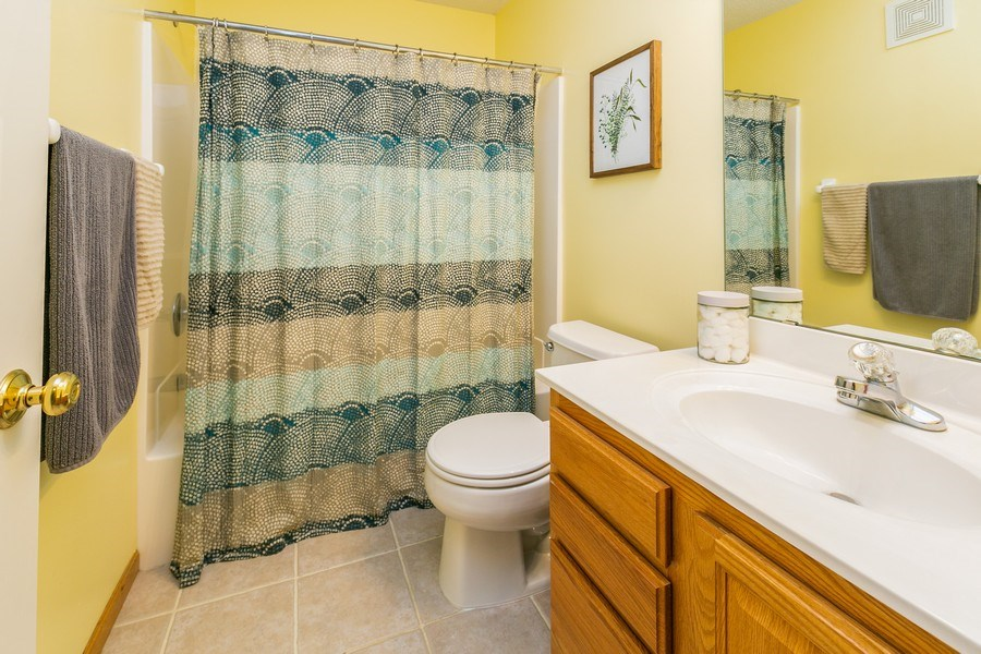 Real Estate Photography - 18832 Inca Ave, Lakeville, MN, 55044 - Upper Level Bathroom
