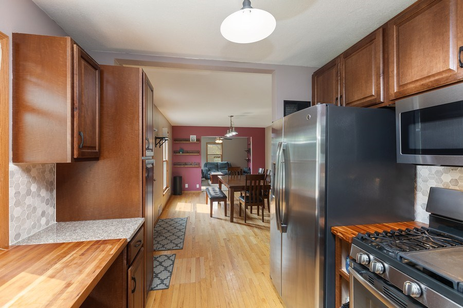 Real Estate Photography - 46383rd St NE, Fridley, MN, 55421 - Kitchen / Dining Room