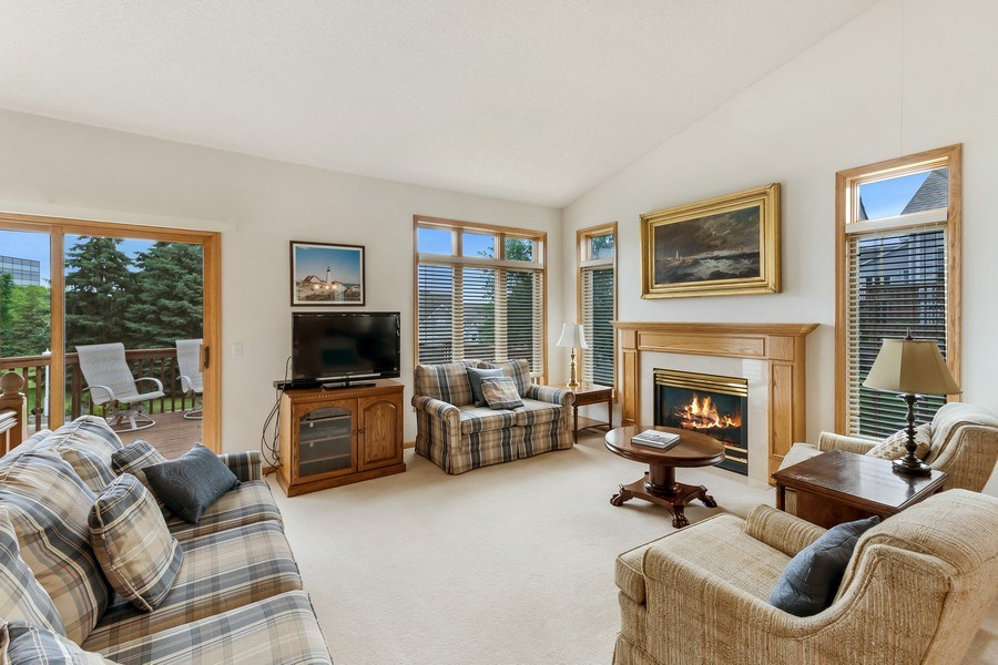 Real Estate Photography - 10954 Leaping Deer Ln, Eden Prairie, MN, 55344 - Living Room