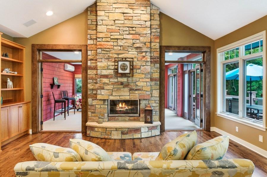 Real Estate Photography - 11614 Cedar Pass, Minnetonka, MN, 55305 - Living Room