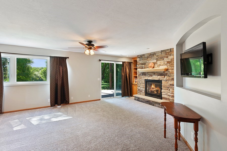 Real Estate Photography - 11885 Riverview Rd NE, Hanover, MN, 55341 - Family Room