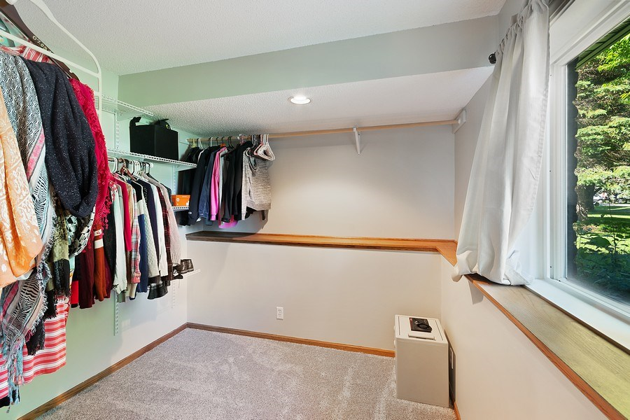 Real Estate Photography - 11885 Riverview Rd NE, Hanover, MN, 55341 - Master Bedroom Closet