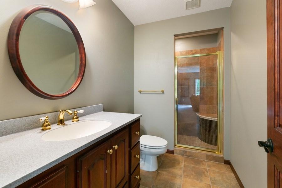 Real Estate Photography - 22861 Ridge Cir, Lakeville, MN, 55044 - Lower Level 3/4 Bath