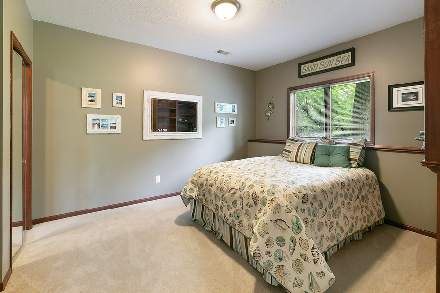 Real Estate Photography - 22861 Ridge Cir, Lakeville, MN, 55044 - Lower Level Bedroom 4