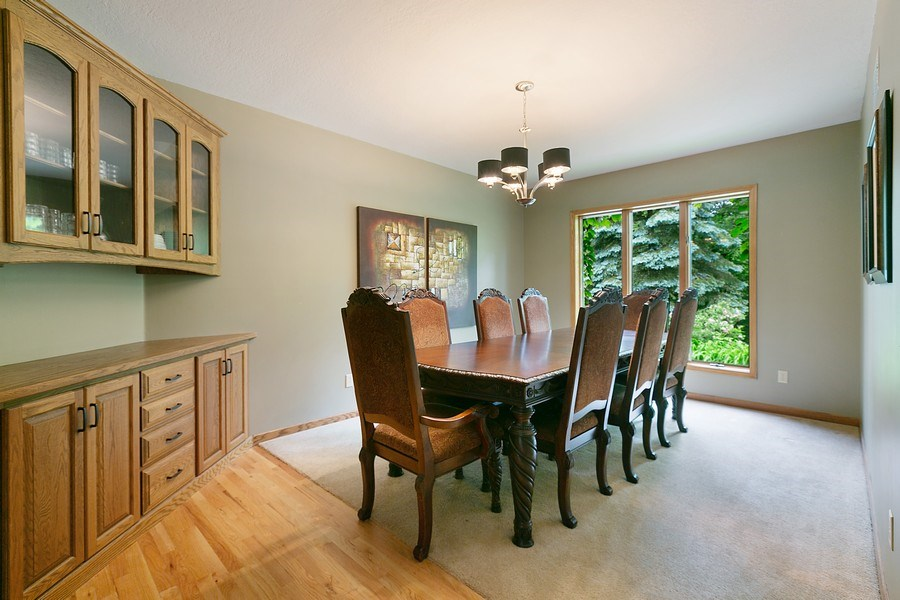 Real Estate Photography - 22861 Ridge Cir, Lakeville, MN, 55044 - Dining Room