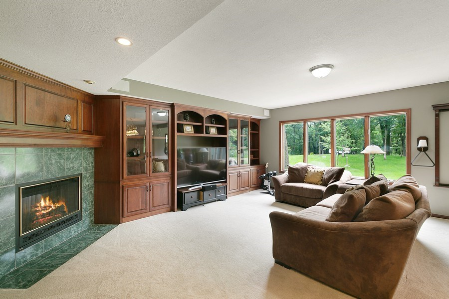 Real Estate Photography - 22861 Ridge Cir, Lakeville, MN, 55044 - Lower Family Room