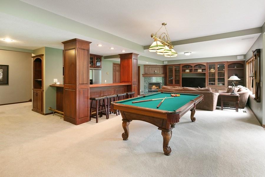Real Estate Photography - 22861 Ridge Cir, Lakeville, MN, 55044 - Wet Bar/Billiard