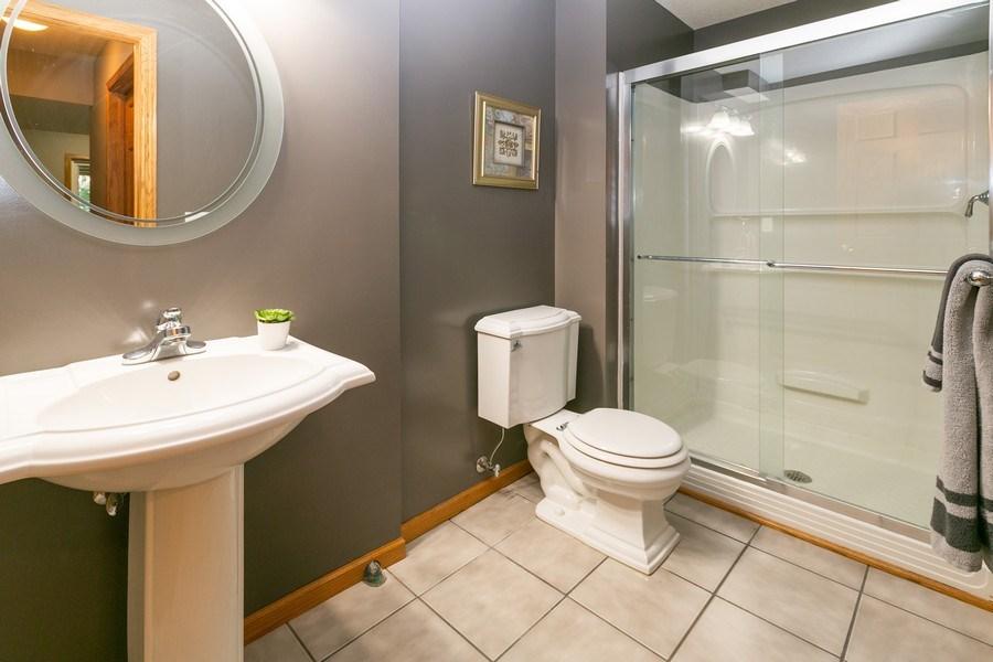 Real Estate Photography - 1430 Aretz CT, Victoria, MN, 55386 - Lower level bathroom
