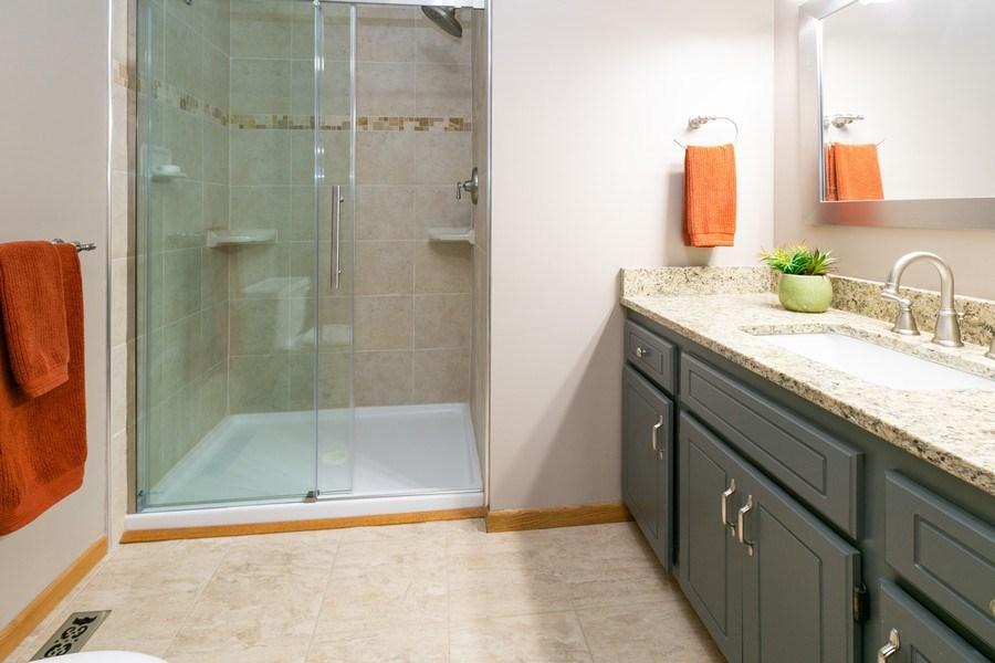 Real Estate Photography - 1430 Aretz CT, Victoria, MN, 55386 - Master bathroom