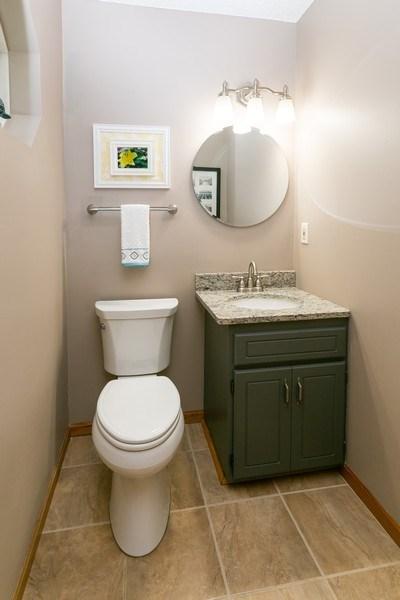 Real Estate Photography - 1430 Aretz CT, Victoria, MN, 55386 - Main level bathroom