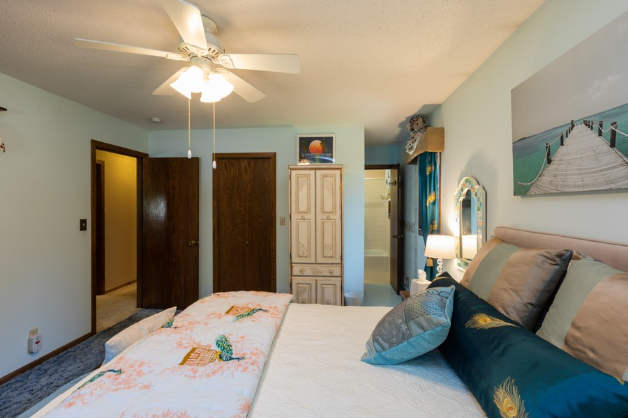 Real Estate Photography - South wind dr, West st paul, MN, 55118 - Master Bedroom