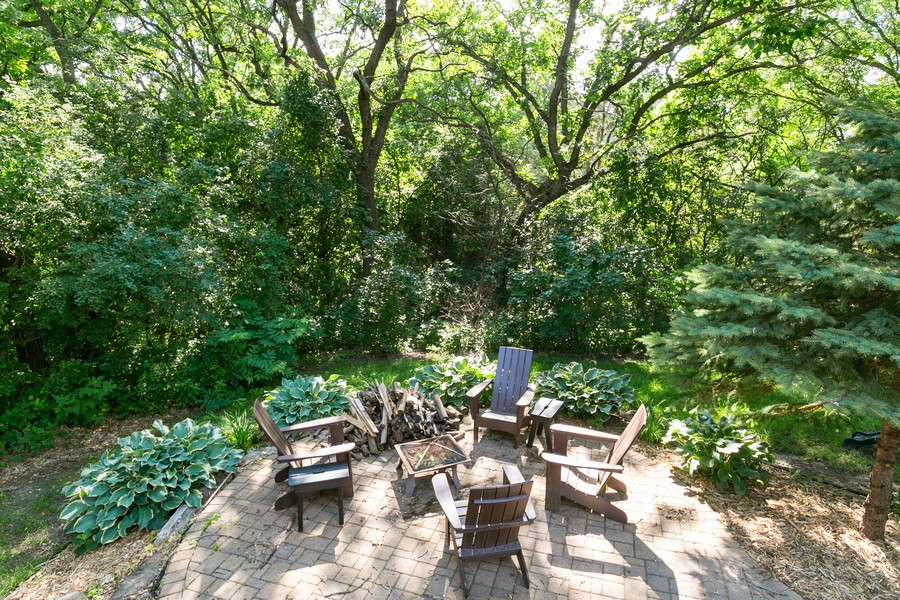 Real Estate Photography - 13311 Greenwich Ct, Apple Valley, MN, 55124 - Tree lined backyard