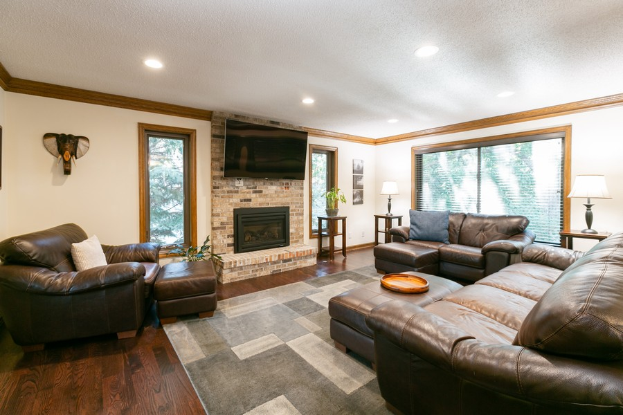 Real Estate Photography - 13311 Greenwich Ct, Apple Valley, MN, 55124 - Main Level Family Room