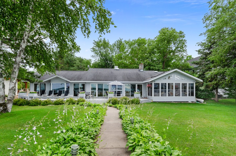 Real Estate Photography - 1088 Green Gables Road, City of East Gull Lake, MN, 56401 - Rear View