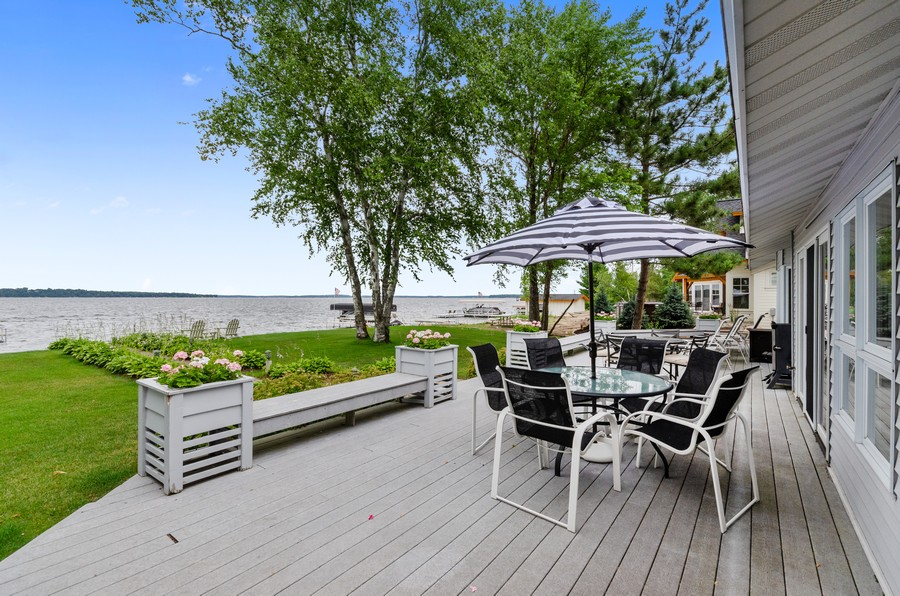 Real Estate Photography - 1088 Green Gables Road, City of East Gull Lake, MN, 56401 - Deck