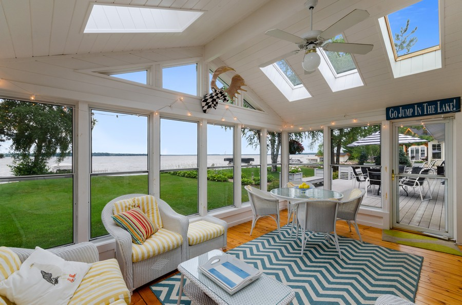 Real Estate Photography - 1088 Green Gables Road, City of East Gull Lake, MN, 56401 - Sun Room