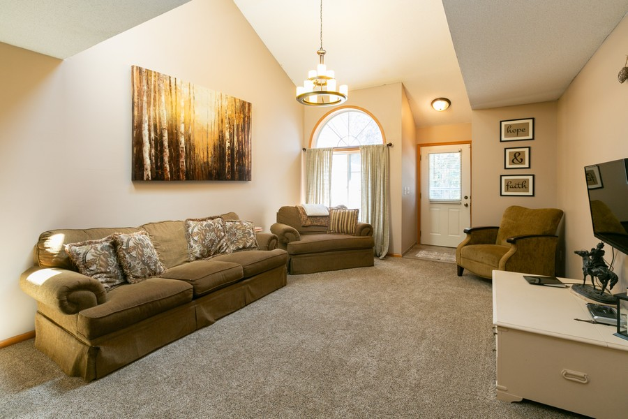 Real Estate Photography - 13212 Aberdeen St NE, Blaine, MN, 55449 - Main Level Family Room