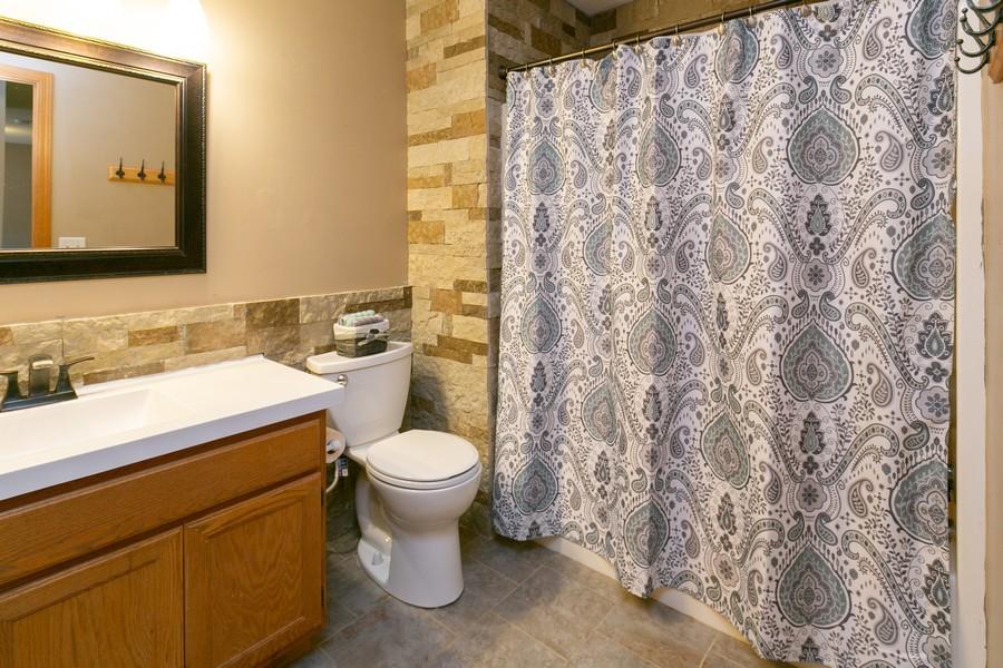 Real Estate Photography - 13212 Aberdeen St NE, Blaine, MN, 55449 - Upper Level Full Bathroom