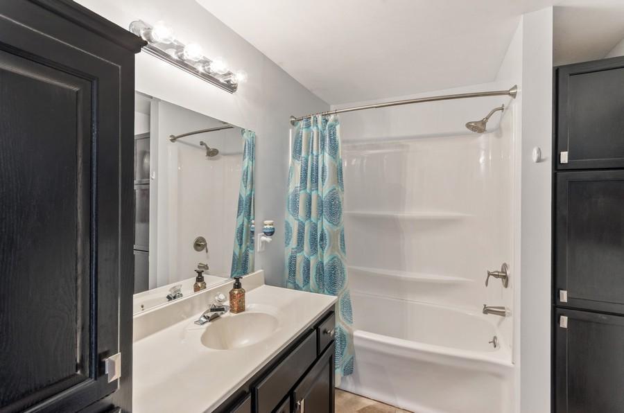 Real Estate Photography - 12494 Davenport Street NE, Blaine, MN, 55449 - 2nd Bathroom