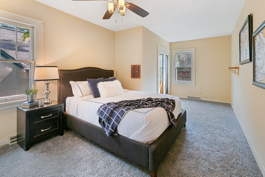 Real Estate Photography - 5333 Fremont Ave S, Minneapolis, MN, 55409 - Main Floor Master Bedroom