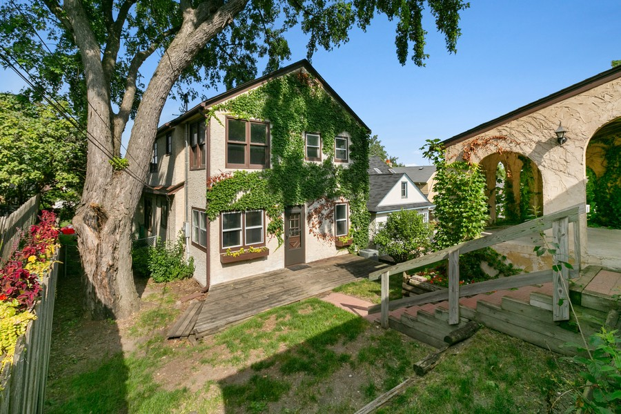 Real Estate Photography - 5333 Fremont Ave S, Minneapolis, MN, 55409 - Back of Home, Yard, Carport & Deck