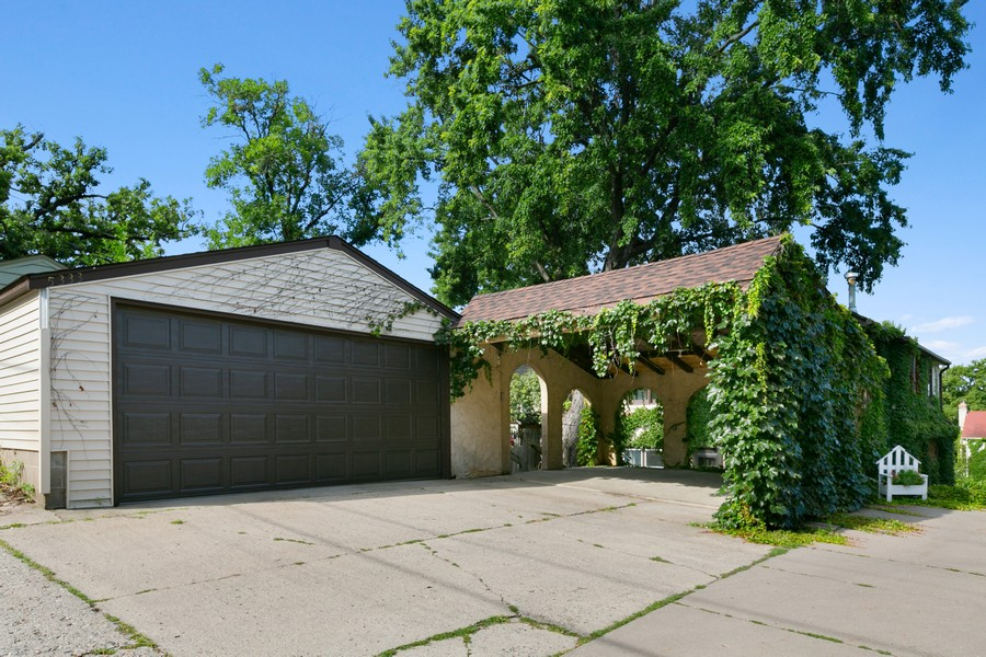 Real Estate Photography - 5333 Fremont Ave S, Minneapolis, MN, 55409 - Oversized 2+ Garage + Car port