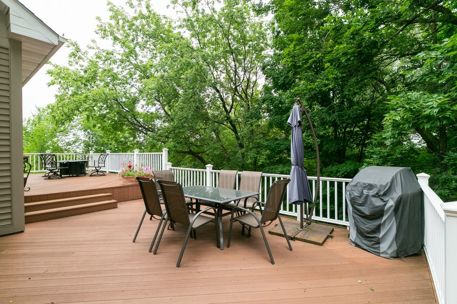 Real Estate Photography - 18978 Embry Ave, Farmington, MN, 55124 - Two Tiered Maintenance Free Deck