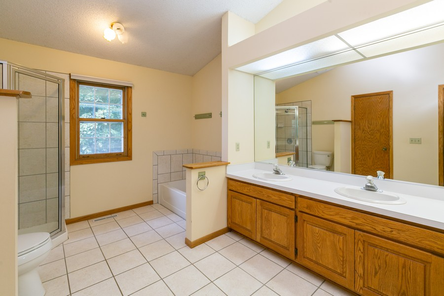 Real Estate Photography - 8055 Curtis Lane, Eden Prairie, MN, 55347 - Master Bathroom