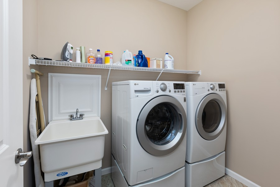 Real Estate Photography - 5620 Dallas Lane North, Plymouth, MN, 55446 - Laundry Room