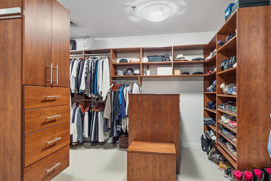 Real Estate Photography - 401 North 2nd Street, #701, Minneapolis, MN, 55401 - Master Bedroom Closet
