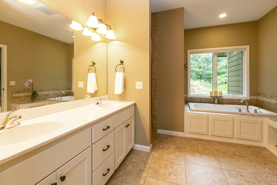 Real Estate Photography - 1040 10th st N, Hudson, WI, 54016 - Master Bathroom