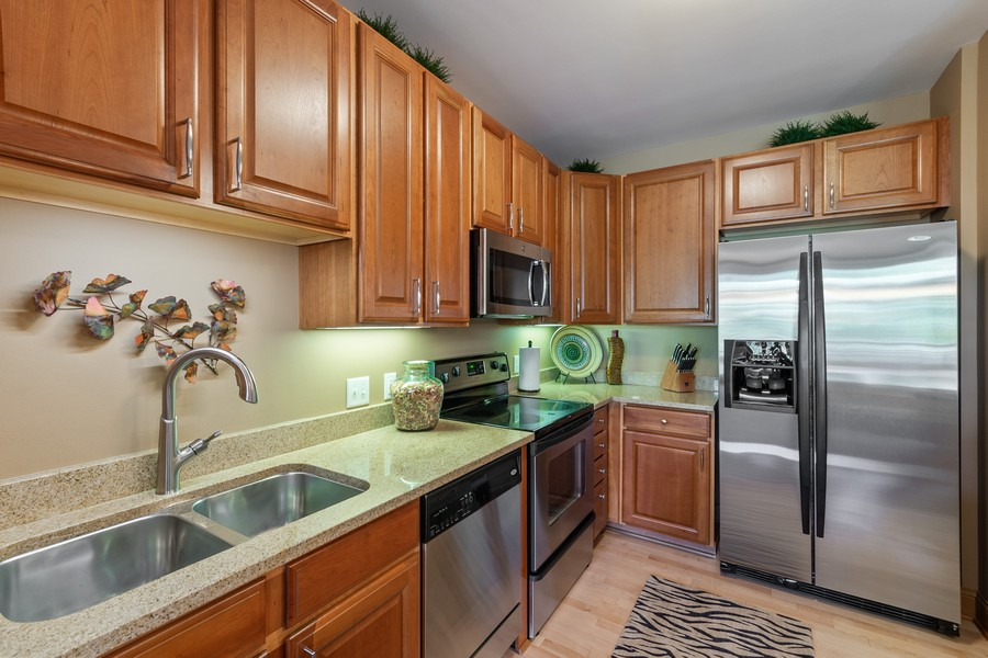 Real Estate Photography - 408 Parkers Lake Rd, Unit 201, Minnetonka, MN, 55391 - Kitchen