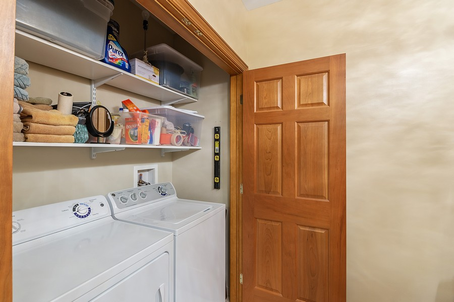 Real Estate Photography - 408 Parkers Lake Rd, Unit 201, Minnetonka, MN, 55391 - Laundry Room