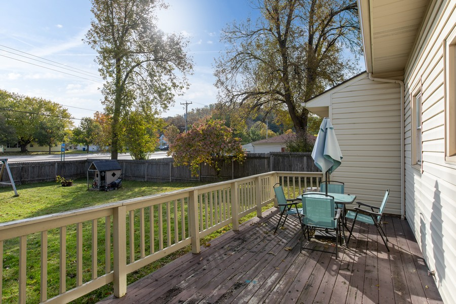 Real Estate Photography - 509 20th Street, Red Wing, MN, 55066 - Deck