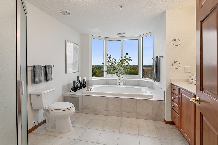 Real Estate Photography - 6600 Lyndale Ave S, Unit 1204, Richfield, MN, 55423 - Master Bathroom